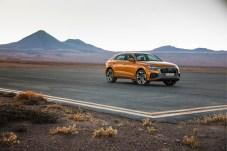 Wuchtige Erscheinung: Der neue Audi Q8 auf Testfahrt in der Atacama-Wüste. © Audi