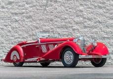 Ein Mercedes-Benz 540 K Sports Roadster von 1937 mit einem Schätz-Betrag zwischen 3,5 Millionen und 4,5 Millionen Dollar (3 Millionen Euro/3,8 Millionen Euro). Foto: Auto-Medienportal.Net/Bonham's
