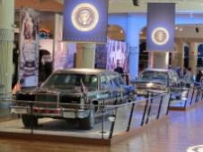 Eine Reihe von Limousinen der US-Präsidenten gehört zu den Glanzstücken des Museums
