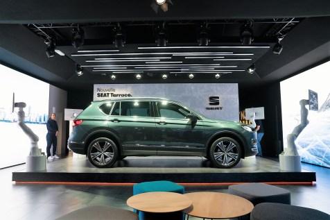 Der SEAT Tarraco gibt dabei bereits einen Ausblick auf das zukünftige frische und junge Design der spanischen Automarke. Foto: Seat