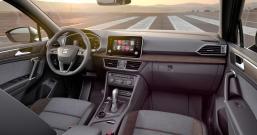 der SEAT Tarraco mit einem freistehenden Acht-Zoll-Display bestückt, mit dem das Infotainment via Gestensteuerung bedient wird. Foto: Seat