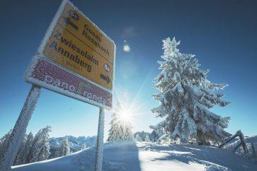 """Die zusammenhängende Skigenussrunde """"Panoronda"""" mit einer Gesamtlänge von 44 Kilometern. Foto: Skiregion Dachstein West"""