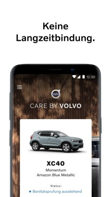 """""""Care by Volvo"""" ab sofort auch per Android-App buchbar"""
