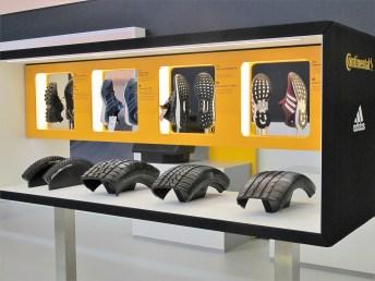 Nebenbei entwickelte Continental auch Schuhsohlen für Adidas.