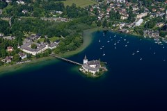 Eine Luftaufnahme der Ferienregion Traunsee. Foto: MTV Ferienregion Traunsee