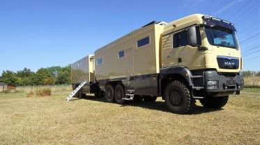 Der Unicat MD75h mit Wohn- und Werkstatt-Trailer WT69. Foto: Auto-Medienportal.Net/Unicat