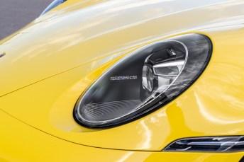 Die LED-Scheinwerfer mit Matrix-Beleuchtung. © Porsche