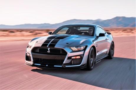 Der neue Ford Mustang Shelby GT500 mit seinen mehr als 700 PS aus acht Zylindern wird der schnellste je für den Straßenverkehr zugelassene Ford sein. Foto: Auto-Medienportal.Net/Ford