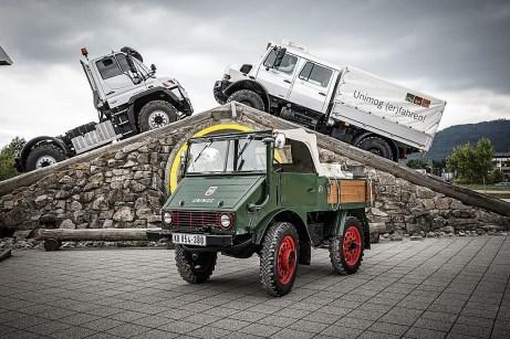 Unimog: Der Urahn und seine Nachfolger. Foto: Auto-Medienportal.Net/Daimler