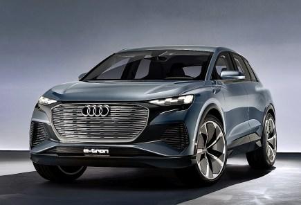 Das Konzeptfahrzeug Audi Q4 e-tron concept. steht für das fünfte Elektro-Serienfahrzeug, Foto: Auto-Medienportal.Net/Audi