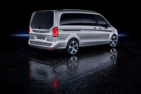 Auch die elektrisch angetriebene Studie profitiert vom Facelift der V-Klasse. © Daimler
