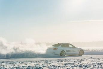 Der BMW M3 wurde bei dem Wintertest mit der GKN-Technologie Twinster an der Hinterachse versehen. Es handelt sich um einen Prototyp. © GKN