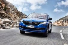 Der 240 PS starke Zwei-Liter-Turbodiesel des Kodiaq RS bringt richtig Power auf den Asphalt. © Skoda