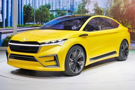 Der viertürige Crossover mit coupéhafter Silhouette basiert auf dem Modularen Elektrifizierungsbaukasten (MEB) des Volkswagen-Konzerns. © Skoda