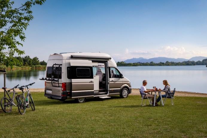 Urlaub mit dem Reisemobil liegt bei vielen Deutschen voll im Trend. Vor dem Fahrtantritt sollte man mal auf eine Waage fahren. © VW