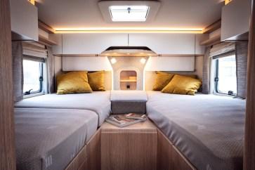 Die Einzelbetten im 780er sind je 90 mal 200 Zentimeter groß. © Hymer