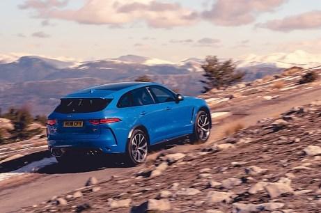 Aufwärts: Das britische SUV ist ein guter Bergsteiger. © Jaguar