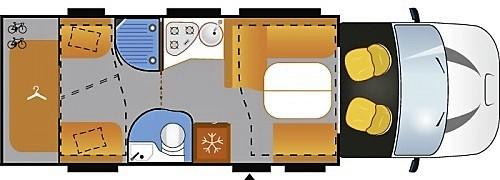 Grundriss des Challenger Mageo 396. Foto: Auto-Medienportal.Net/Michael Kirchberger