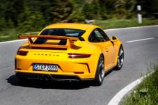 Moderne Zeiten: Beim aktuellen GT3 (991/2) geht der Saugmotor mit vier Litern Hubraum und 500 PS zu Werke. © Porsche
