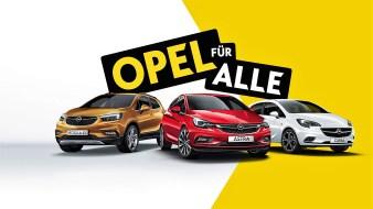 """Aktuell bieten die teilnehmenden Opel-Partner in Deutschland die sofort verfügbaren """"120 Jahre""""-Sondermodelle zu besonders attraktiven Konditionen an. © Opel"""