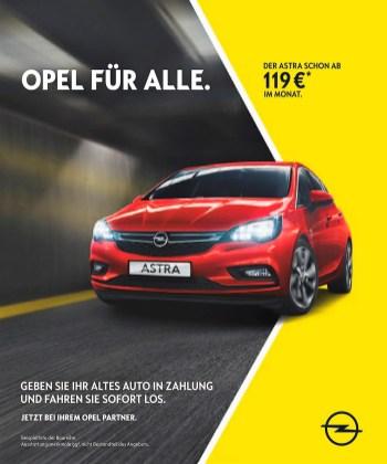 Der Opel Astra ist für 119 Euro im Monat zu leasen. © Opel