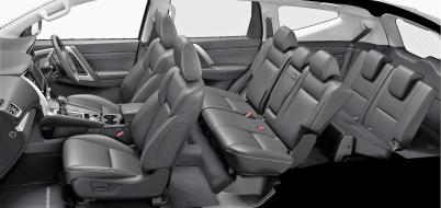 Interieur mit bis zu sieben Sitzen. © Mitsubishi