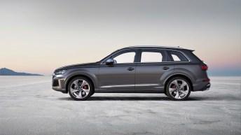 Serienmäßig stattet Audi den SQ7 TDI mit 20-Zoll-Aluminium-Gussrädern im 5-Speichen-Turbinen-Design und 285/45er Reifen aus. © Audi