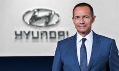 """Geschäftsführer Jürgn Keller: """"Die Zahlen belegen, dass es richtig war, die SUV-Flotte auszubauen und sie beim Design und den Antrieben noch attraktiver zu machen."""" © Hyundai"""