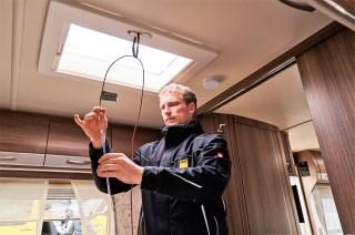 ADAC-Test Wintercaravans: Messung der Innenraumtemperatur. Foto: Auto-Medienportal.Net/ADAC