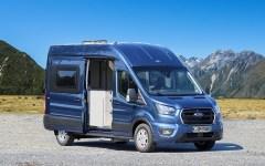 """Grundlage für den 5,98 Meter langen Camper, der dem Grand California von VW Paroli bieten soll, ist der große Transit FT 350 Kastenwagen mit Frontantrieb, langem Radstand (3,75 Meter) und Hochdach. © """"obs/Ford-Werke GmbH/Ford / Westfalia"""""""