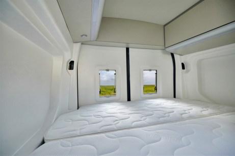 """Das Heckbett verfügt über eine Kaltschaummatratze und punktelastische Federung. © """"obs/Ford-Werke GmbH/Ford / Westfalia"""""""