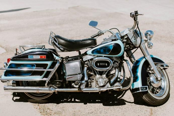 Harley-Davidson FLH 1200 Electra Glide von 1976. Foto: Auto-Medienportal.Net/Kruse GWS Auctions California