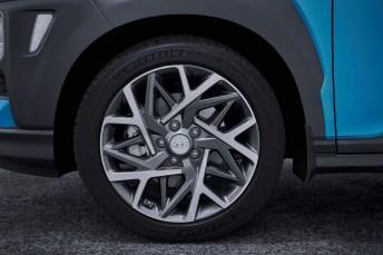 Schickes Felgendesign beim Kona. © Hyundai