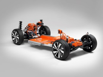 Als echter Volvo ist der Stromer eines der sichersten Autos auf der Straße. Foto: Volvo