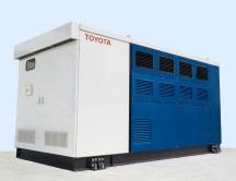 Brennstoffzellen-Generator von Toyota mit Technikkomponenten des Mirai. Foto: Auto-Medienportal.Net/Toyota