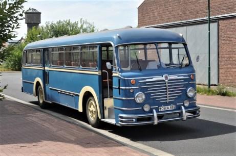 Büssing-Bus von 1955, der bis in die späten 1970er-Jahre bei Volkswagen als Werksbus im Einsatz war. Foto: Auto-Medienportal.Net/Autostadt