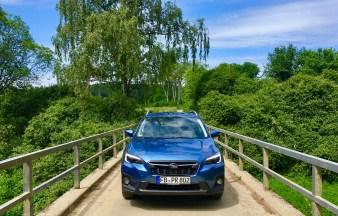 """Markante Front mit dem Subaru-typischen Hexagonalgrill, der flankiert ist von Scheinwerfern im """"Adleraugen""""-Stil. © Klaus H. Frank"""