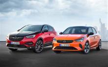 Der Opel Grandland X Hybrid und der Corsa-e © Opel