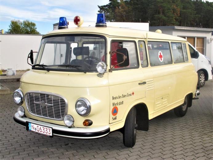 Ex-DDR: Barkas B 1000 Krankentransportwagen aus dem Rot-Kreuz-Museum Nürnberg