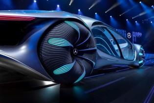 Mercedes-Benz VISION AVTR – inspiriert von AVATAR Der Name des wegweisenden Konzeptfahrzeugs steht nicht nur für die intensive Kollaboration während der Entwicklung des Showcars gemeinsam mit dem AVATAR Team, sondern auch für ADVANCED VEHICLE TRANSFORMATION. Dieses Konzeptfahrzeug verkörpert die Vision von Mercedes-Benz Designern, Ingenieuren und Trendforschern für Mobilität in ferner Zukunft. © Daimler