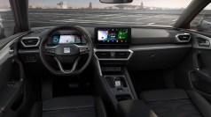 Den Innenraum des Seat Leon prägen weiche Kunststoffe, Textilien und Leder für die Sitzbezüge, Türverkleidungen und das Armaturenbrett. Alles erinnert stark an den neuen Golf 8. © Seat