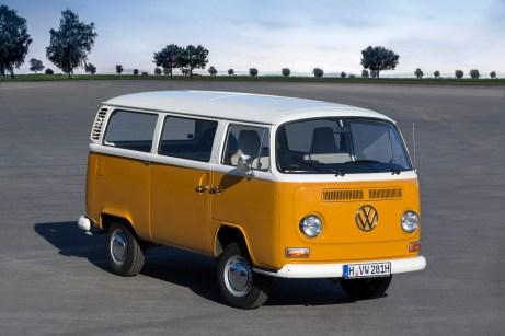 Es wird bunt: Den T2 baut VW von 1967 bis 1979. © Volkswagen
