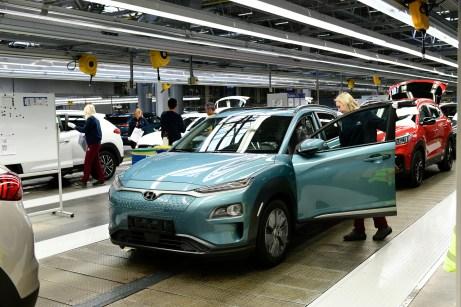 Gesunder Mix: Der Kona Elektro wird auf der gleichen Linie gefertigt, wie andere Modelle des Konzerns. © Hyundai
