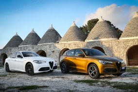Italienische Eleganz: Die Alfa-Romeo-Modelle Giulia (links) und Stelvio rollen aufgefrischt ins neue Modelljahr. © FCA