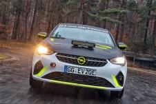 Opel Corsa-e Rallye, Testfahrten in Dudenhofen. Foto: Auto-Medienportal.Net/Opel