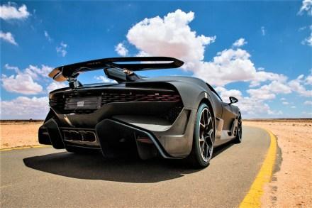 Kraftpaket: Das muskulöse Heck gaukelt nicht nur Stärke vor. © Bugatti