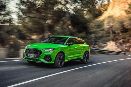 Athletische Erscheinung: Man sieht dem Audi RS Q3 auf Anhieb an, dass er ordentlich Dampf unter der Haube hat. © Audi