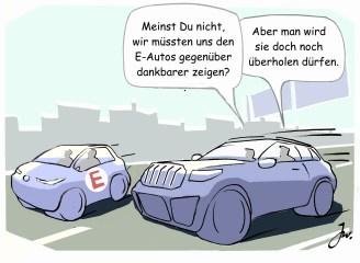 David gegen Goliath: Nach Wünschen der EU haben E-Autos künftig die Nase vorn. © Goslar-Institut