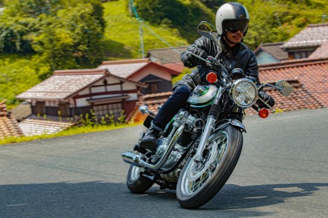 Geeignet für Genusstouren auf der Landstraße: die Kawasaki W800. © Kawasaki