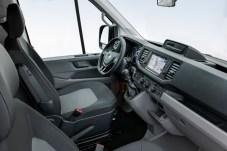 Bequem und einfach zu bedienen: Das TGE-Cockpit, baugleich mit dem des VW Crafter, mit einwandfreier Ergonomie. © MAN